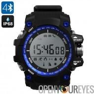 N ° 1 F2 extérieure montre Bluetooth - App Support, podomètre, altimètre, thermomètre, chronomètre, appel rappel, IP68 (bleu)