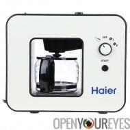 Haier cafetière - Bean Grinder, capacité de 4 tasses, garder la fonction chaud, facile à nettoyer, un Design élégant