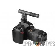 SHENGGU SG-108 Microphone stéréo pour reflex numérique DV Camera - réponse en fréquence 30-18000Hz, Modes de prise de son 2