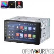 7 pouces 2 DIN autoradio - universel d'ajustage, Android 7.1, HD écran, processeur 4 Core, 2Go de RAM, GPS, Android Maps soutie