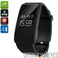 Bracelet de Fitness ORDRO S12 - podomètre, fréquence cardiaque, moniteur de dormir, rappel d'appel anti-perdue (noir)
