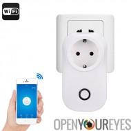 Smart Home WiFi Plug - Amazon Echo Alexa, Support de l'App, WiFi, ABS retardateur de flamme, shuffle MP3, Supports Android et i