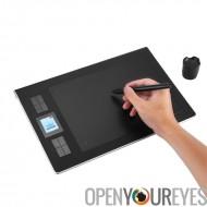 Tablette graphique sans fil de Huion DWH69 - 233RPS, stylo Rechargeable, 5080LPI, zone de dessin de 9 x 6 pouces, 2.4 G sans fi