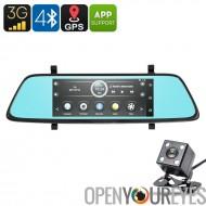 CEROS 1080p voiture DVR Kit - Android OS, 6,86 pouces, GPS, 1080p devant caméra, caméra de recul Parking, Parking moniteur, 3