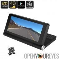 1080p voiture DVR - Android OS, 7-Inch écran, GPS, caméra de Parking arrière, détection de mouvement, jeu de Google, Bluetooth,