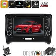 2 DIN voiture lecteur DVD Audi TT - 6.0 Android, voiture DVR, arrière vue caméra, GPS, 7 pouces HD, Support 3G, WiFi, Google Pl