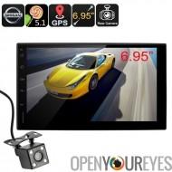 2 DIN Nissan Android Media Player - Android OS, Bluetooth mains libres, système de Navigation GPS, caméra de recul rétroviseur