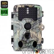 1080p Trail caméra - photo de 2,31 pouces, vidéo 1080p, 16MP, PIR capteur, Vision de nuit de 20m, 110 degrés objectif, imperméa