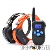 Collier de chien Trainer - taille collier ajustable, colliers récepteurs 2, 300m plage, imperméable à l'eau, batterie 300 mAh,