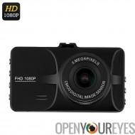 Voiture DVR - écran 3 pouces, Angle de vision de 140 degrés, G-Sensor, Motion Detection, photos 12MP, Full-HD 1080p