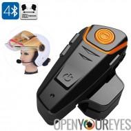 Casque de moto - gamme de 1000m, Bluetooth, appels mains libres, Radio FM, GPS Connect, 450mAh batterie
