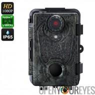 Chasse caméra - 25m PIR capteur, Vision de nuit de 20 mètres, étanche IP66, 12MP photos, 6 mois d'autonomie, Full-HD 1080p