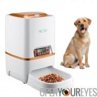 Chargeur automatique de Pet - pour les aliments secs, capacité de 6 L, enregistrement, la voix ajuster par portion, conception