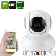 Caméra IP intérieure - 1/4 de pouce CMOS, PTZ, accès à distance, détection de mouvement, anti-IR, Vision nocturne, Angle de 60