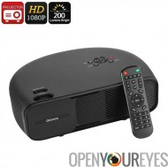 G760 2W haut-parleurs projecteur - 1080p Support, 200 Lumen, taille de l'Image de 150 pouces Home cinéma HD, VGA, HDMI, USB