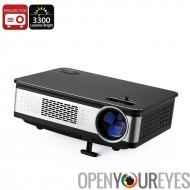 100W projecteur LED - 3300 Lumens, corps métallique, Support de la HD, 1,67 millions couleurs, AV, HDMI, VGA, haut-parleur inté