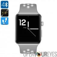 DM09 Plus montre Bluetooth - podomètre, 1 IMEI, appels, SMS, Notifications de médias sociaux, Bluetooth 4.0, OLED (gris + blanc