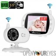 Moniteur pour bébé sans fil - écran de 3,5 pouces, surveillance de la température, Audio à deux voies, Vision de nuit de 3M, an