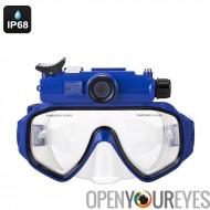 Caméra de sport natation lunettes - IP68 imperméable, 90 degrés lentille, CMOS 1/2.5 pouces, photos de 5MP, HD 720p, Support de