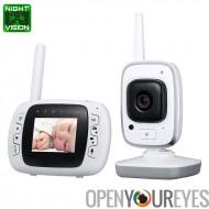 Vision de nuit bébé moniteur - 2.4 G sans fil, Distance de Transmission de 300m, 32Go de stockage interne, double voie Audio, T