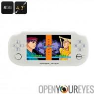Jouer jeu Console portable - jeux de 32 bits, Support de la vidéo HD, musique, 4,3 pouces, carte SD 32 Go, appareil photo 3MP