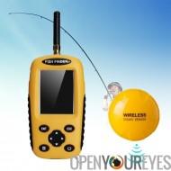 Trouveur de poissons sans fil - technologie Sonar, capteurs sans fil, faisceau de 90 degrés, profondeur réglable et sensibilité