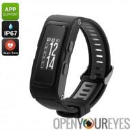 Fitness Tracker Bracelet - température en temps réel, pression, altimètre, podomètre, cardiofréquencemètre, GPS, étanche IP67 (