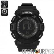 Sunroad Digital Sport Watch FR861 B - boussole, altimètre, baromètre, podomètre compteur de calories