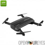 Golden Star JXD 523 Mini Drone - 0.3MP caméra, vidéo 480p, App contrôle, Design pliable, FPV Support WiFi, portée 40 M (noir)