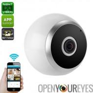360 degrés IP caméra - détection de mouvement, sans fil, Vision nocturne, App enregistrement de soutien, SD Card, résolution HD
