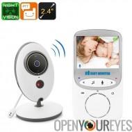 Vidéo bébé moniteur - Audio bidirectionnelle, 2,4 pouces Display, moniteur de température ambiante, Vision nocturne, lentille d