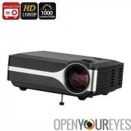 Projecteur DLP - FHD soutien, 1000 Lumen LED, résolution Native 800x480p, haut-parleur intégré, HDMI, VGA, AV, USB