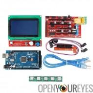 Arduino imprimante 3D contrôleur Kit - Conseil Mega 2560, imprimante 3D contrôleur rampes 1.4 Conseil, 5 Steppers, fente pour c