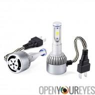 Phares de voiture de LED - H7 Type Interface, 6500 k blanc lumière, 3800 Lumen chaque, s/n Chips, plage de 80M