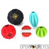 Jouets pour chiens - friandise 2 jouets sonorisée, 2 dents nettoyage des jouets à mâcher, 1 Football Fetch Toy, matériaux Non t