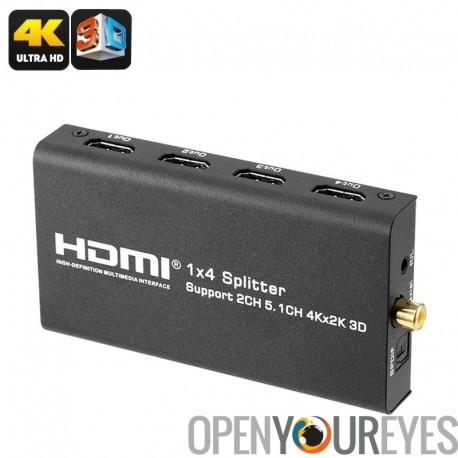 Convertisseur HDMI - sortie le 4 x HDMI, 1 x HDMI, les Supports 4K, Support Audio, 10.2Gbps vitesse de transfert