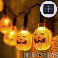 LED Halloween décoration Lights - l'énergie solaire, citrouille Design, 2 guirlandes lumineuse, 7,5 m chaîne longueur, 30 LEDs