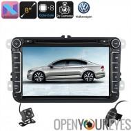 2 DIN voiture lecteur DVD VW Passat - 8 pouces, Android 7.1, WiFi, 3G soutien, DVR, caméra, GPS, Octa-Core CPU de stationnement