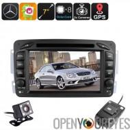 2 DIN voiture Android pour Mercedes Benz - région DVD gratuit, Cam Dash, 7 pouces écran tactile, Android 6.0, BT, Wi-Fi, mains