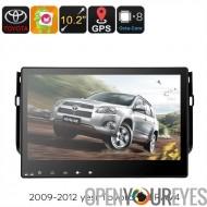 2 DIN voiture stéréo Toyota RAV4 - écran tactile de 10,2 pouces, Octa Core CPU, OS Android, GPS Navigation, Bluetooth, Support