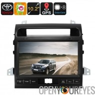 Deux DIN voiture Media Player - pour le Land Cruiser, 10.2 pouces, Android 6.0, Bluetooth, GPS, WiFi, 3G, Octa-Core CPU, 2 Go d