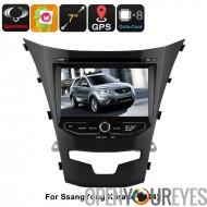 2 DIN lecteur DVD de voiture - pour SsangYong Korando, écran de 7 pouces HD, Octa-Core, GPS, WiFi, 3G, Bluetooth, BUS CAN, Andr