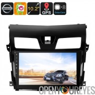 2 DIN Android Media Player - pour Nissan TEANA, écran de 10,2 pouces HD, Support des Dongle 3G, GPS, Android 6.0, CAN BUS, Octa