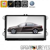 2 DIN voiture stéréo VW Passat - HD 9 pouces, Android 6.0, Bluetooth, WiFi, 3G, le jeu de Google, CAN-BUS, Octa-Core CPU, GPS