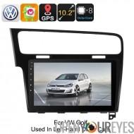 Un DIN voiture stéréo VW Golf - 6.0 Android, GPS, Bluetooth, WiFi, 3G, Octa-Core CPU, écran de 10,2 pouces HD, CAN-BUS