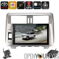 2 DIN-autoradio - Land Cruiser Prado, voiture DVR, caméra de recul, GPS, Android 6.0, WiFi, 3G, écran de 9 pouces, Bluetooth