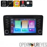 Lecture de DVD de voiture 2 DIN pour Audi A3 - écran 7 pouces, Android 6.0, GPS, WiFi, 3G soutien, peut BUS, Octa-Core CPU, 4 G