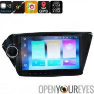 9 pouces 2 DIN lecteur de Media Android - Android 6.0, Octa-Core, 32GB ROM, 3G, 4G, GPS, Google jeu, correspond à Rio KIA K2 ne