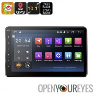 Universal 2 DIN voiture Android Radio - 2 Go de RAM, 32Go de stockage interne espace, Bluetooth, Wi-Fi activé, GPS, écran de 10