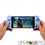 FlyDiGi contrôleur de jeu Mobile Wee - Poignée extensible, Support Bluetooth, batterie intégrée, anti-dérapant Grip (bleu)